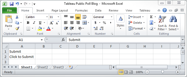 Excel Submit