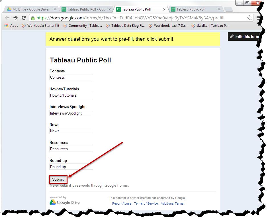 How to Turn a Viz into a Poll | Tableau Public