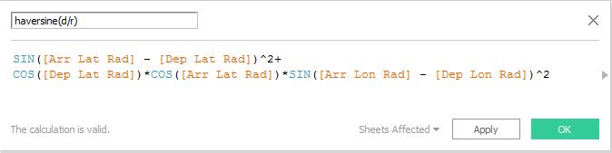 Formula Haversine(d/r)