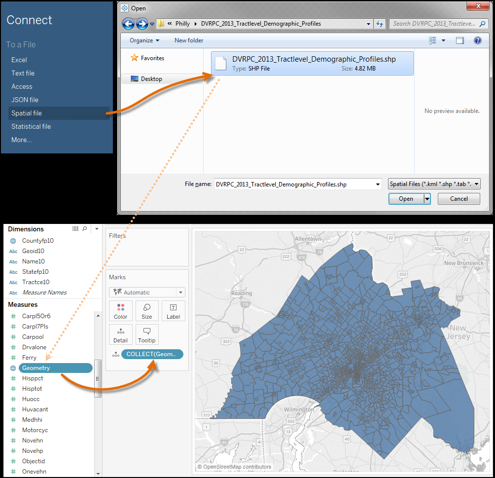 Tableau 10.2 spatial file support