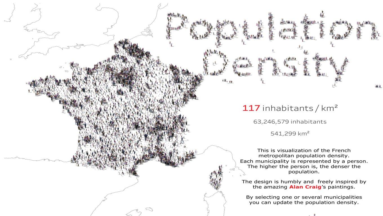 population density france tableau public