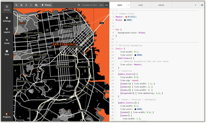 Mapbox styles like SF Giants