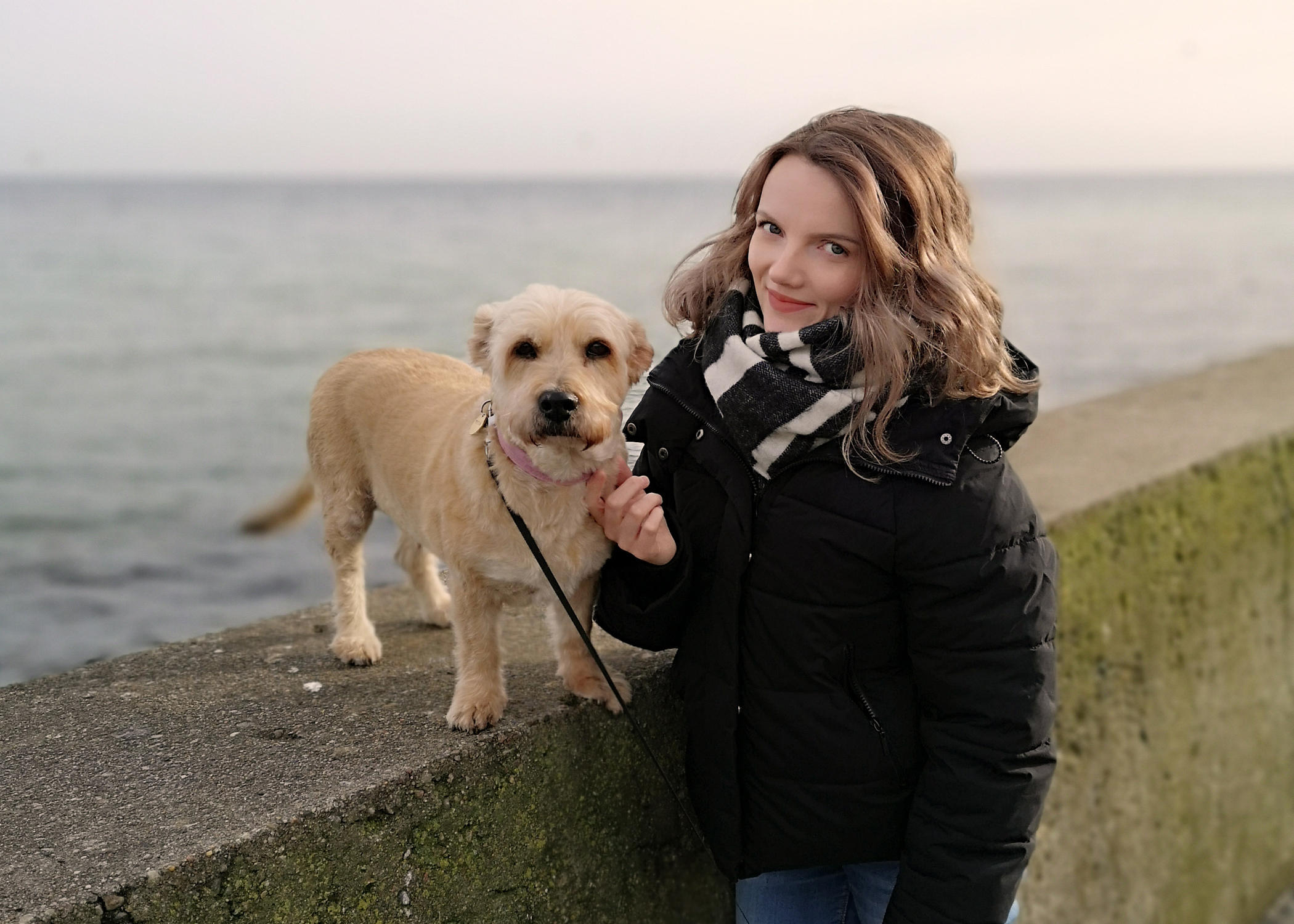 Tableau Public author Kasia Gasiewska-Holc with her dog Topica