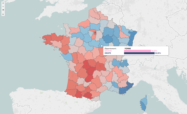 Map Of France Election Results.French Presidential Election Simulator Tableau Public
