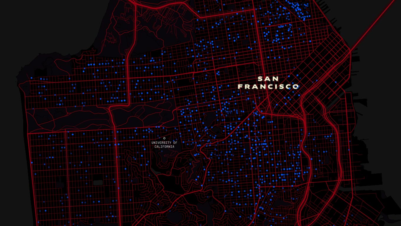 Visualization of evictions in San Francisco