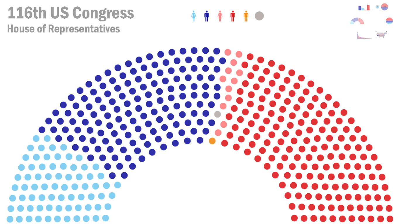 Visualization of 116th United States Congress