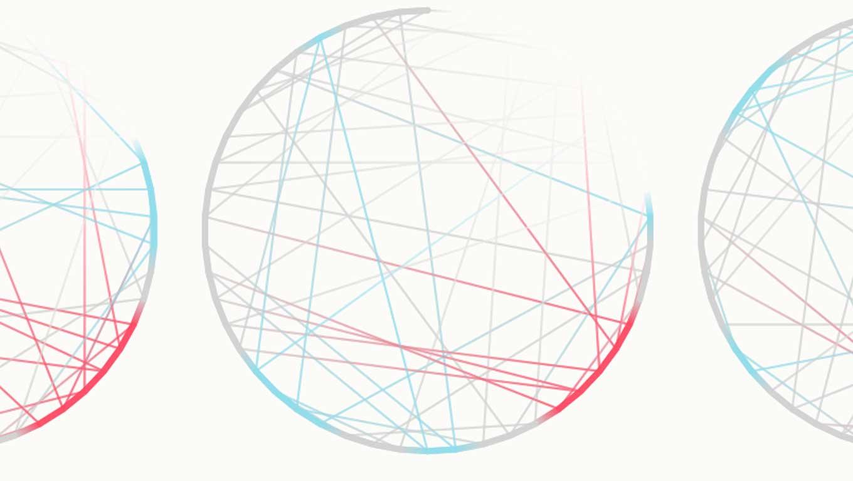 chord diagram letter e