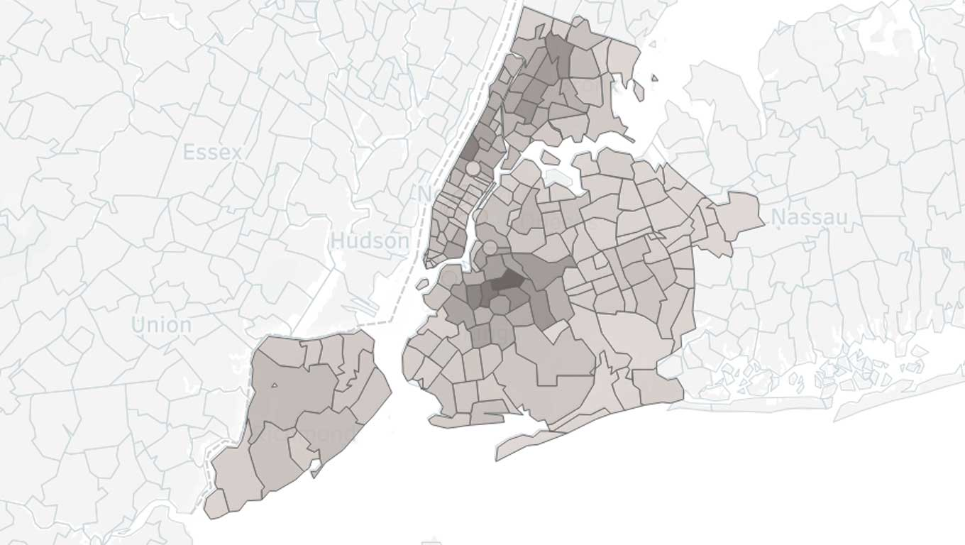 map of New York rat sightings