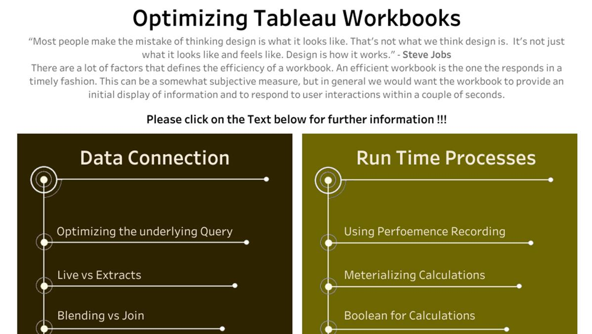 Tips for optimizing your workbooks for speed and efficiency