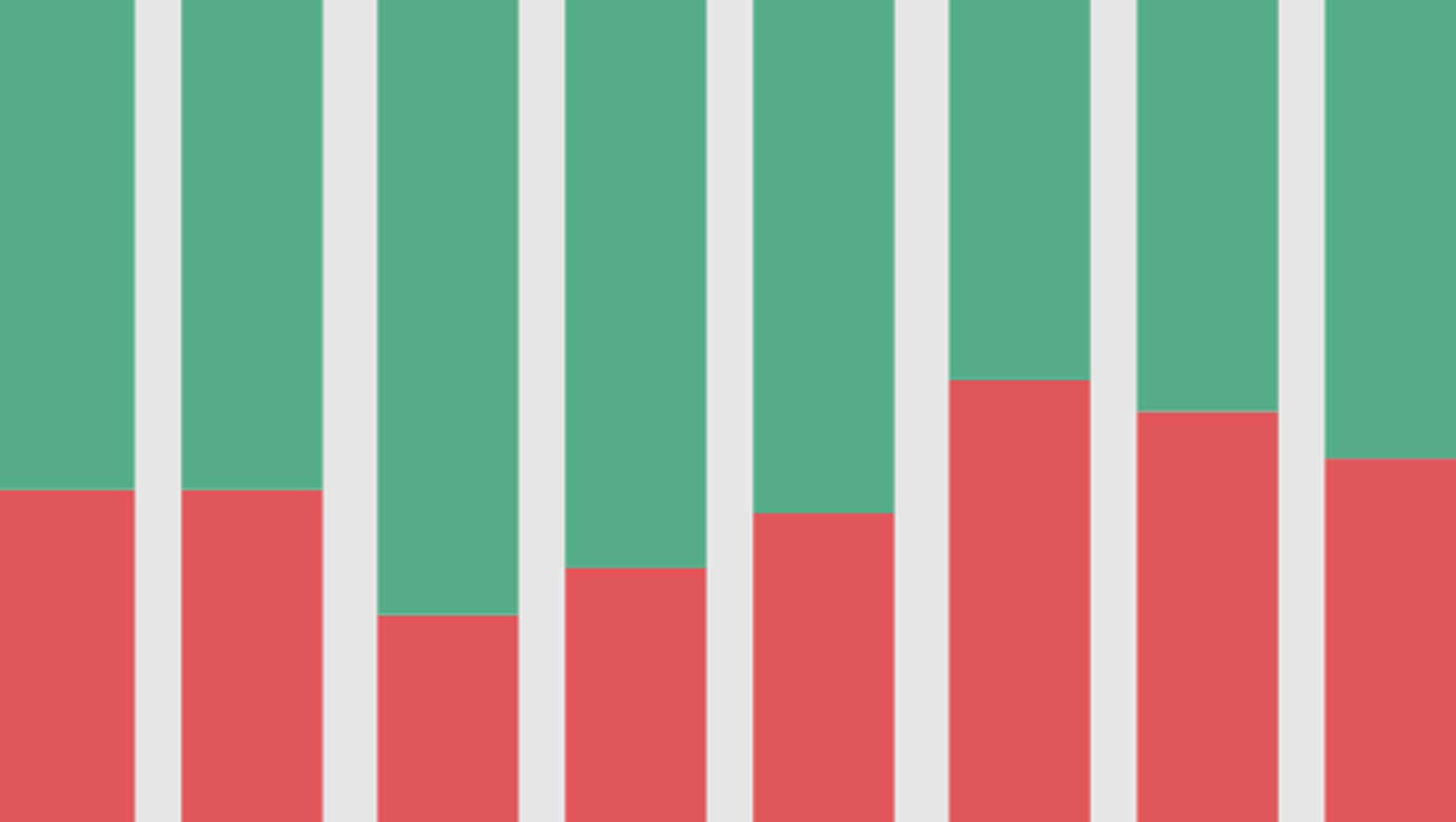 Stacked bar chart comparing real and fake Christmas tree sales