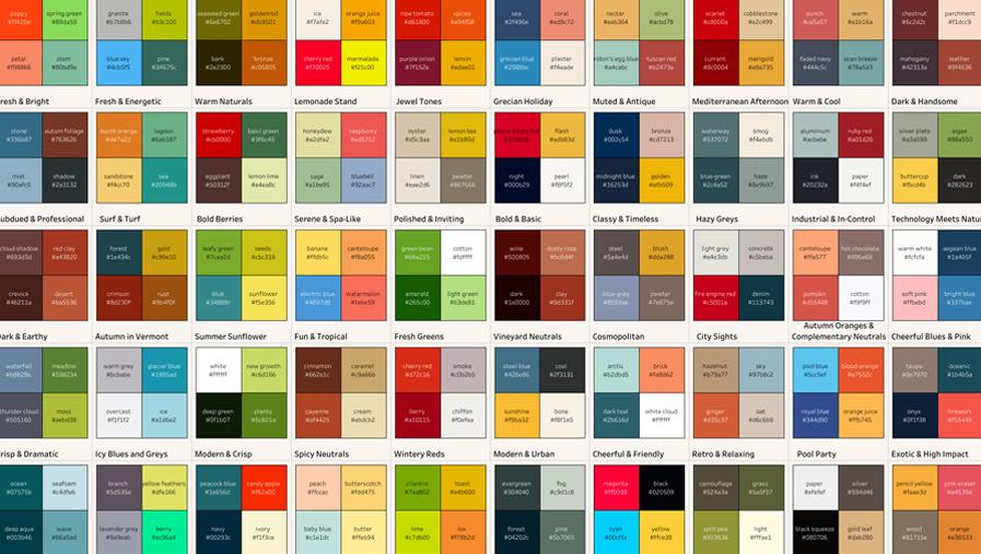 Designer approved color palettes to use in your visualizations