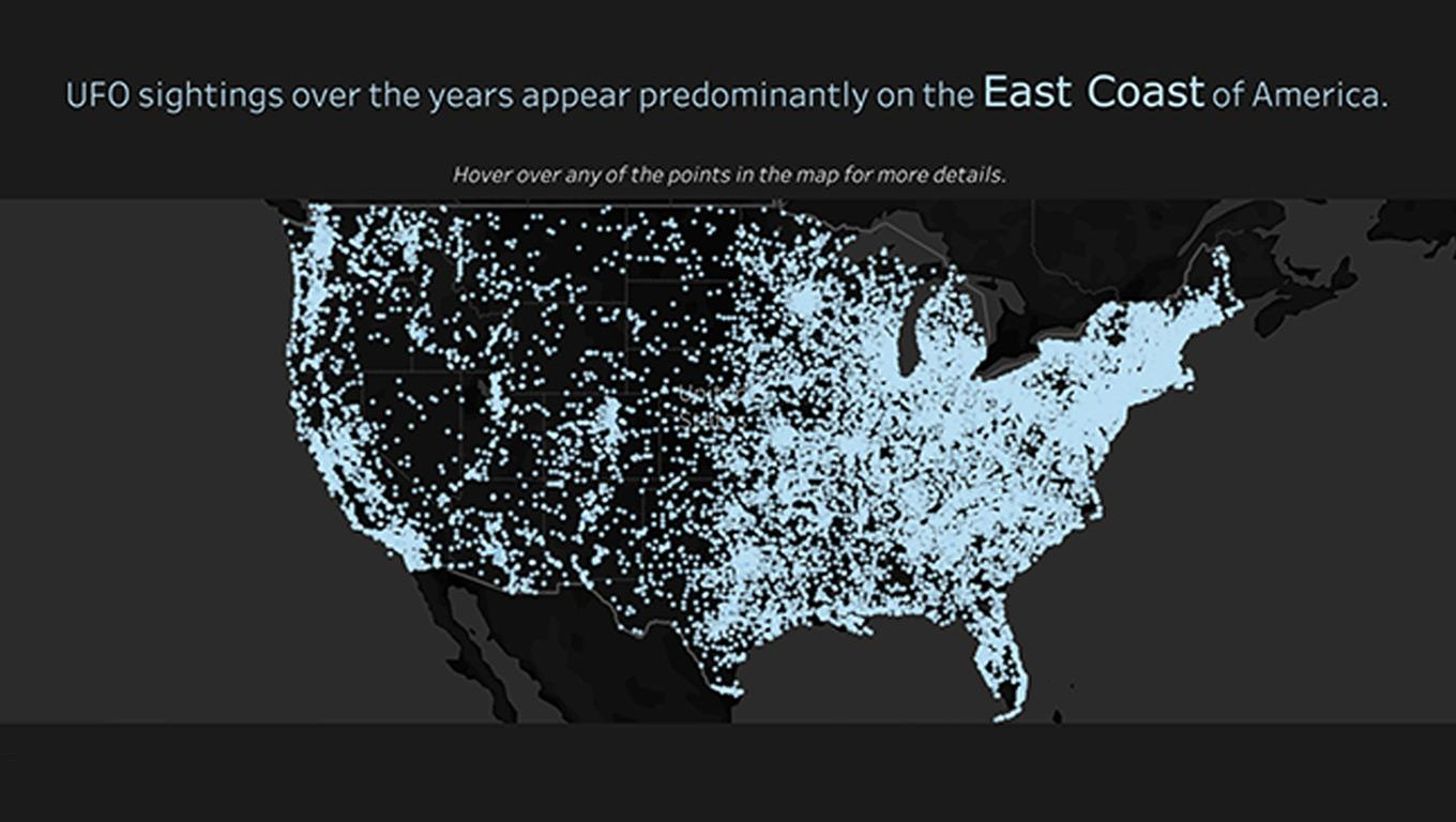 Visualization of UFO sightings in America