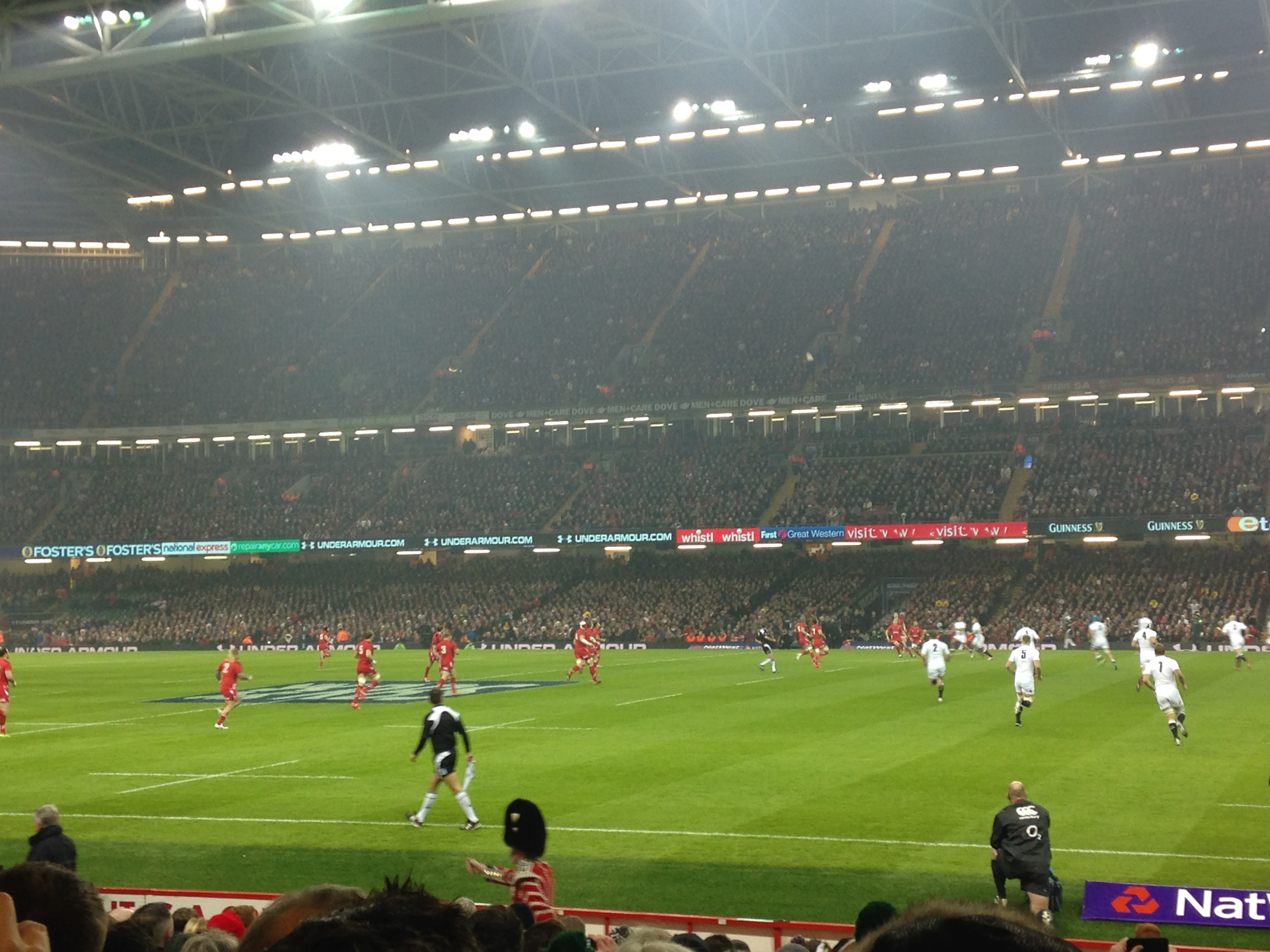 Kick off at Wales v England (6 Feb 2015)