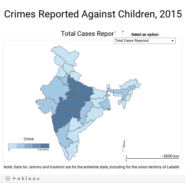 Crimes Reported Against Children, 2015