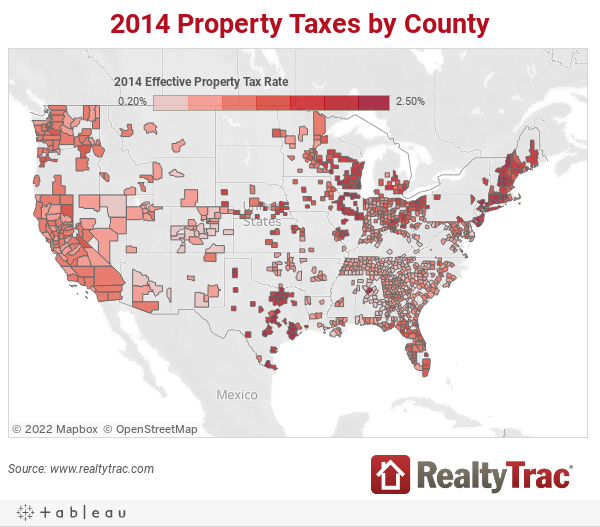 2014 Property Taxes by County