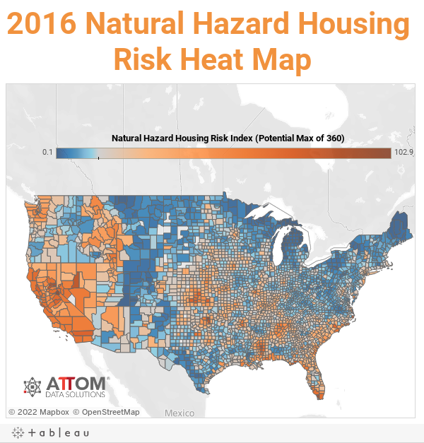2016 Natural Hazard Housing Risk Index | Newsroom and Media