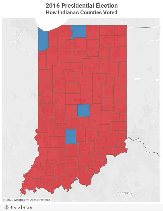 Map See How Indiana S Counties Voted