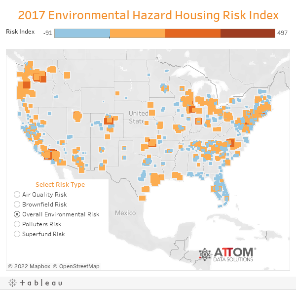 2017 Environmental Hazard Housing Risk Index