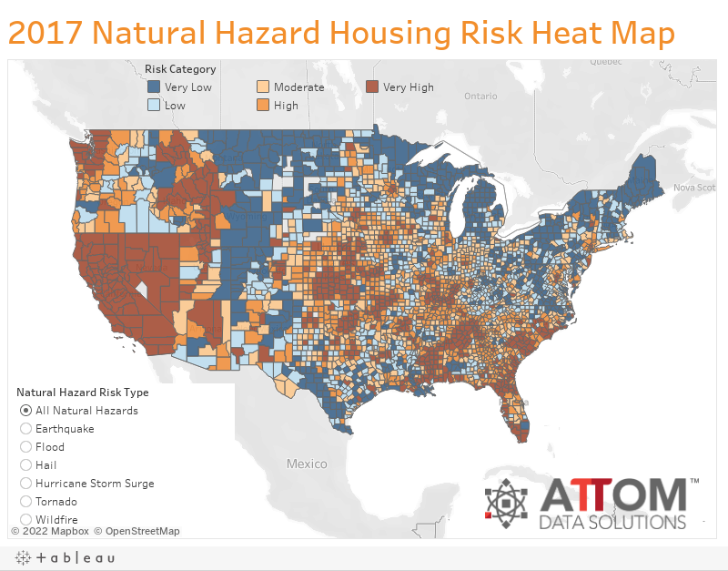 2017 Natural Hazard Housing Risk Heat Map