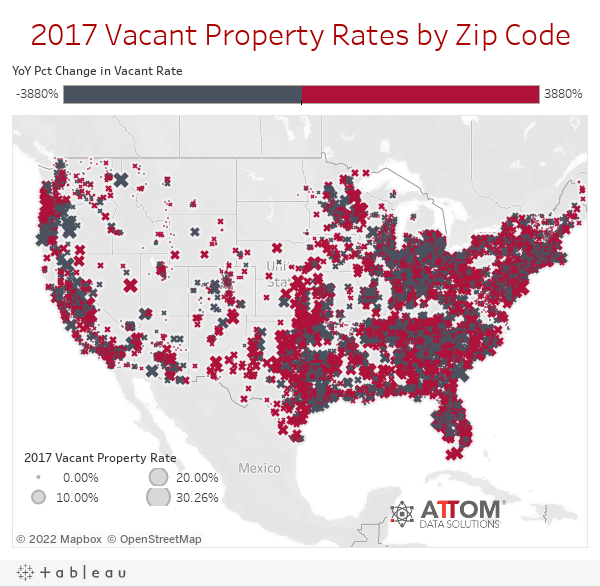 2017 Vacant Property Rates by Zip Code