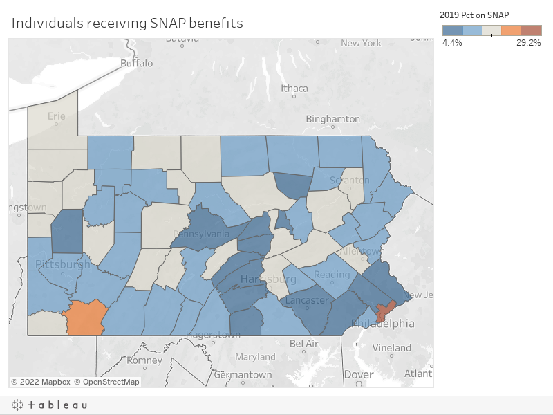 MAP: Who receives food stamp benefits in Pennsylvania? - The