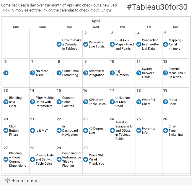 the vizioneer day 1 how to make a calendar in tableau