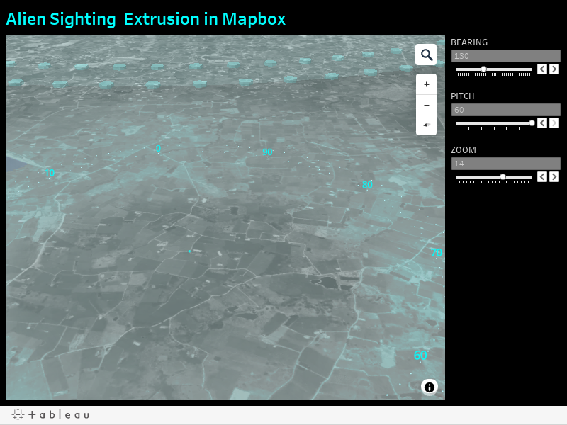 Alien Sighting  Extrusion in Mapbox