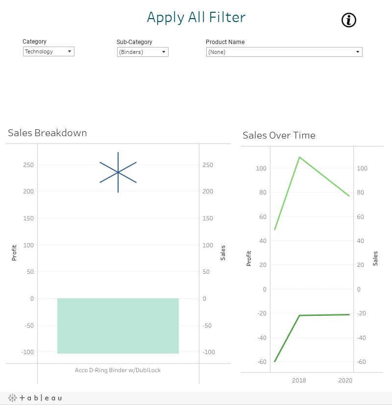 Tableau 2020 - Apply All Filter Button