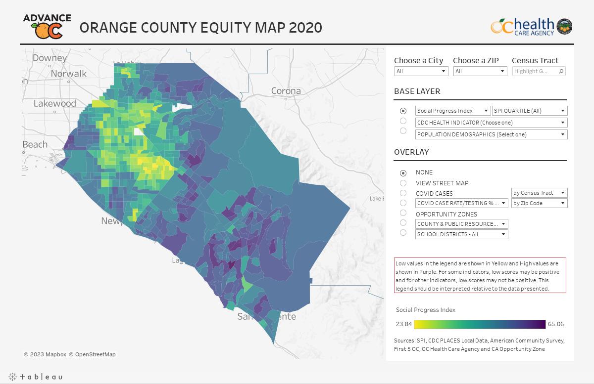 Orange County Equity Map
