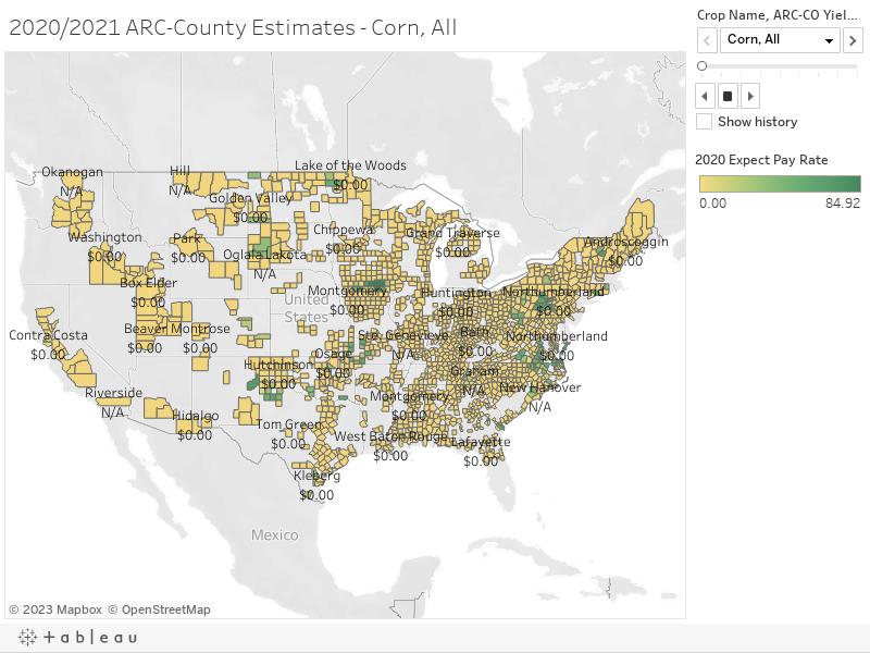 2020/2021 ARC-County Estimates - Wheat, All