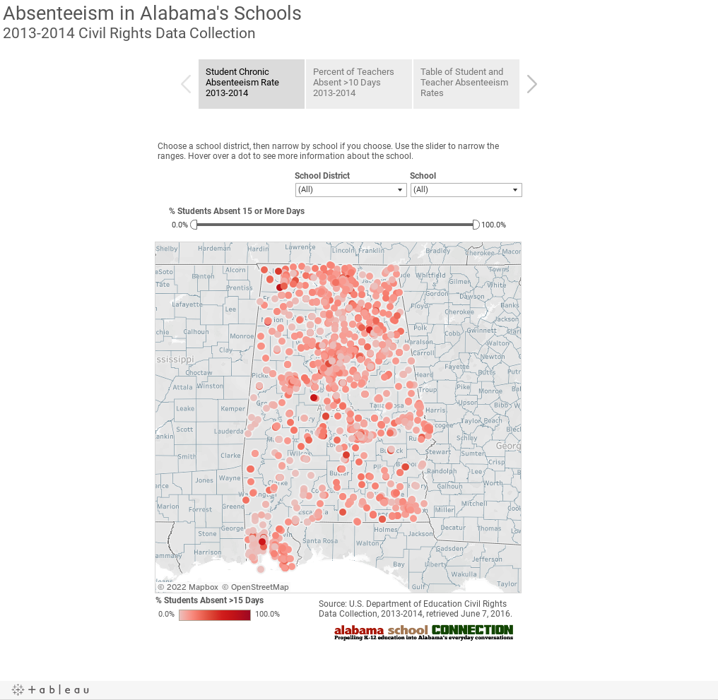 Absenteeism in Alabama's Schools2013-2014 Civil Rights Data Collection