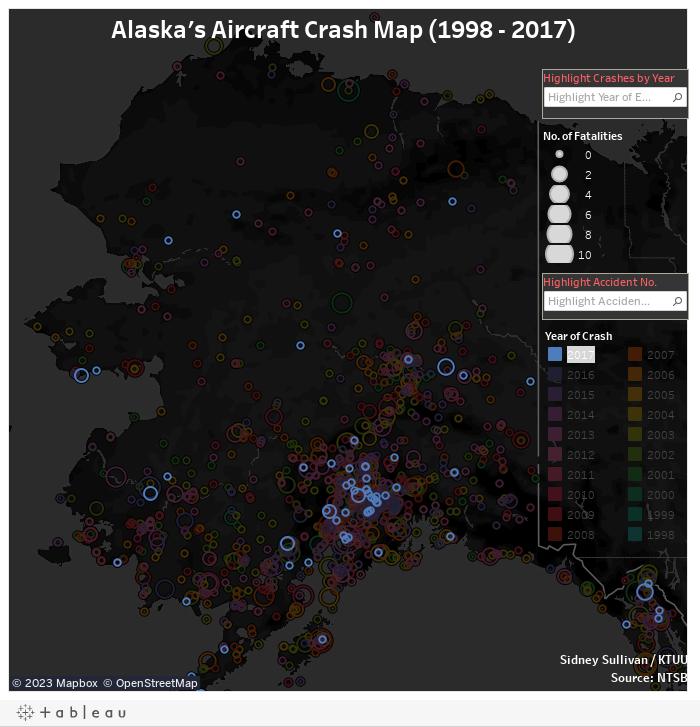 Alaska Plane Crashes (1998 - 2017)