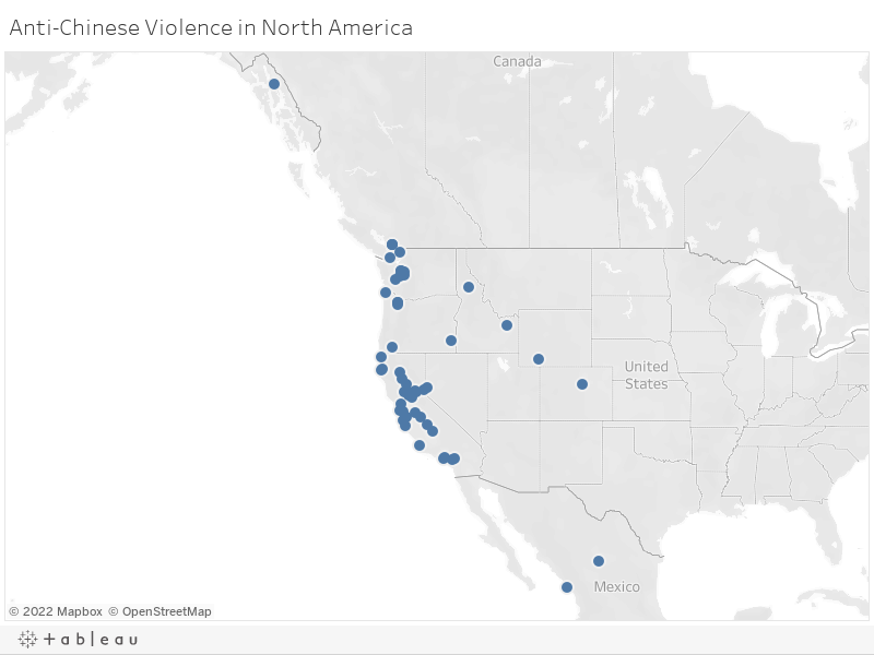 Chinese Map Of America.Mapping Anti Chinese Violence The Tacoma Method