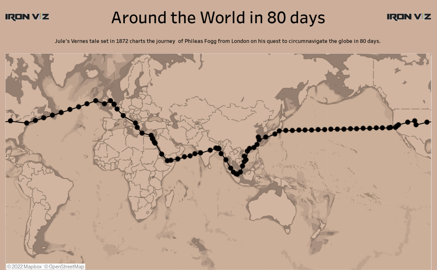 Around the world in 80 days - Ali Motion | Tableau Public