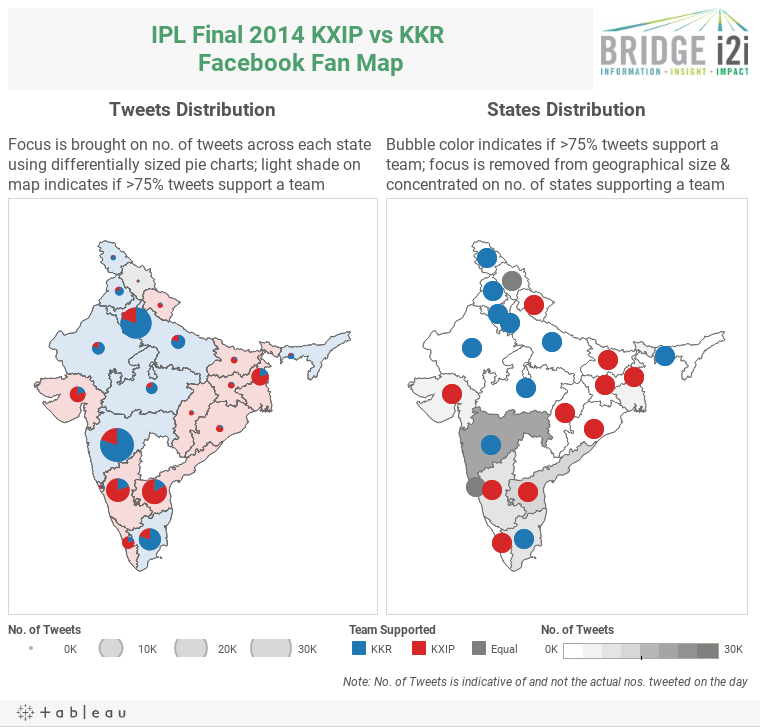 BRIDGEi2i IPL Facebook Fan Map