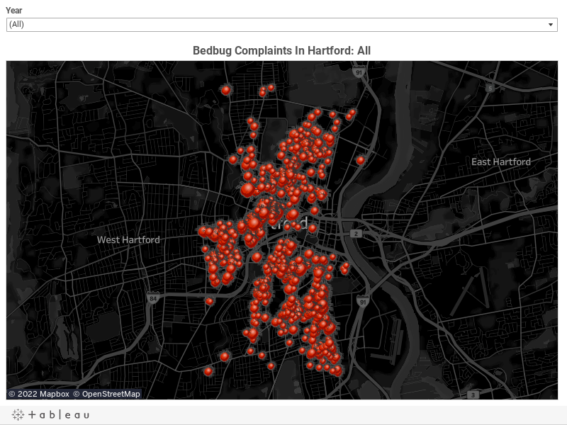 Bed Bugs Persist In Hartford Hartford Courant - Map of bed bug infestation in us