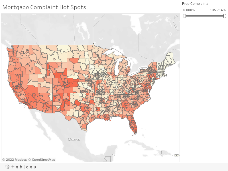 Mortgage Complaint Map