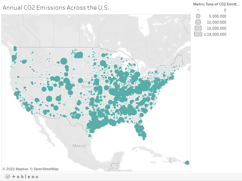 Annual CO2 Emissions Across the U.S.