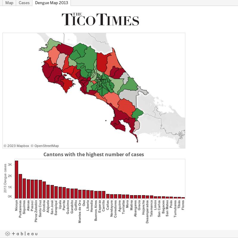 Dengue Map 2013