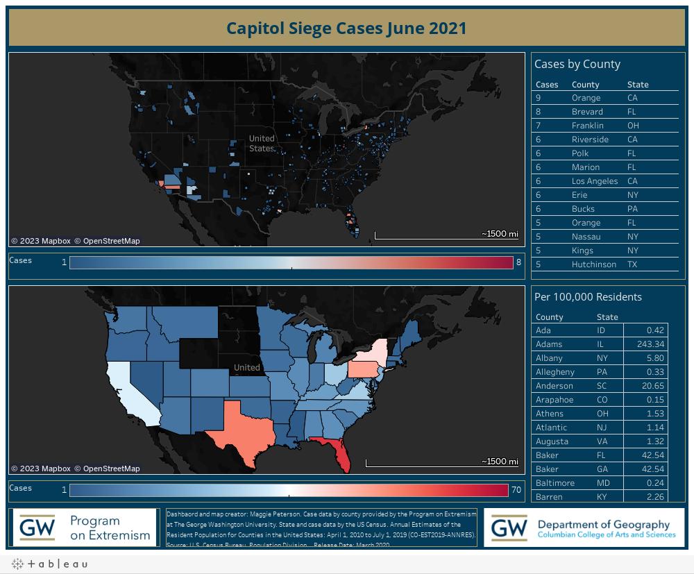 Capitol Siege Cases June 2021