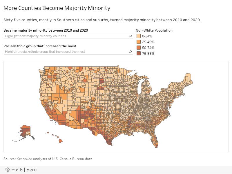 More Counties Become Majority Minority