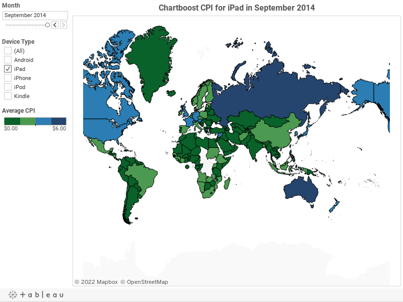 World Wide CPI for Android in September 2014