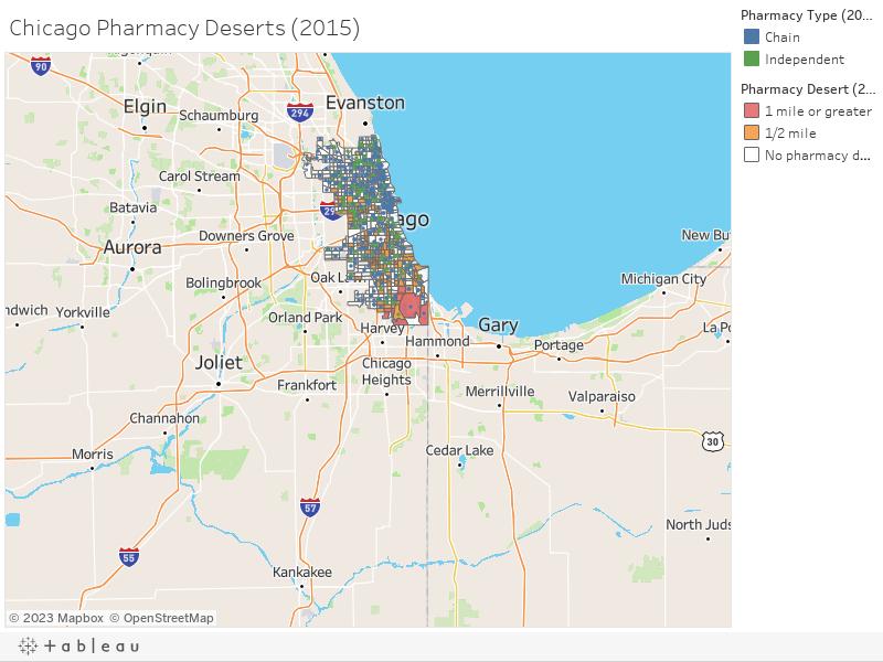 Chicago Pharmacy Deserts (2015)