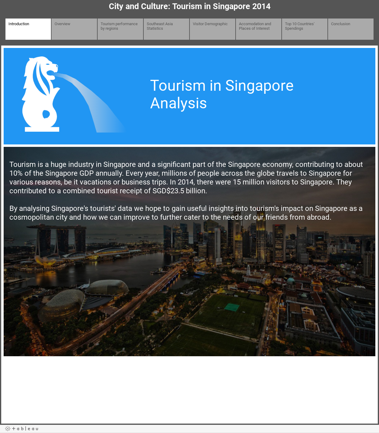 City and Culture: Tourism in Singapore 2014