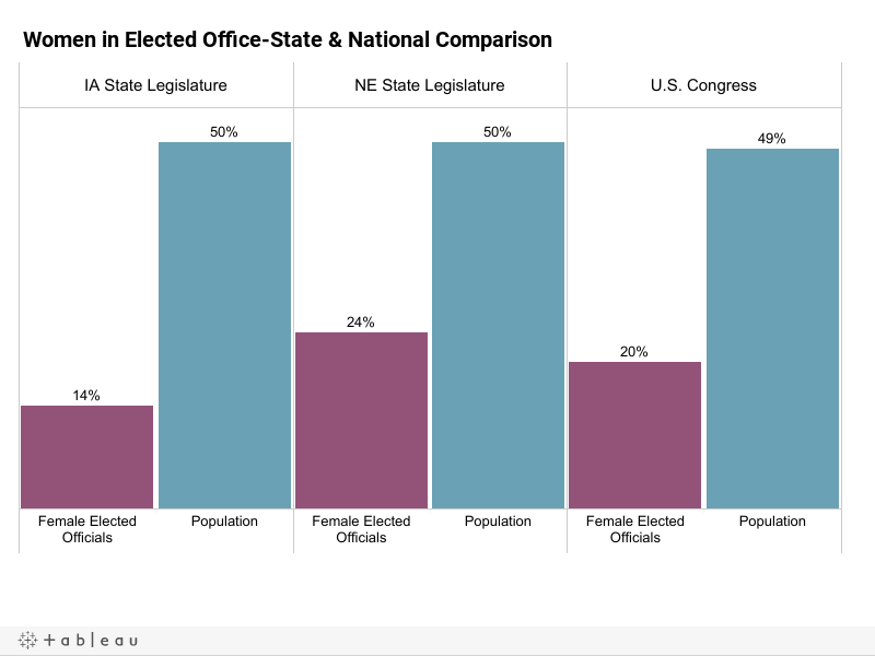 Women in Elected Office-State & National Comparisons