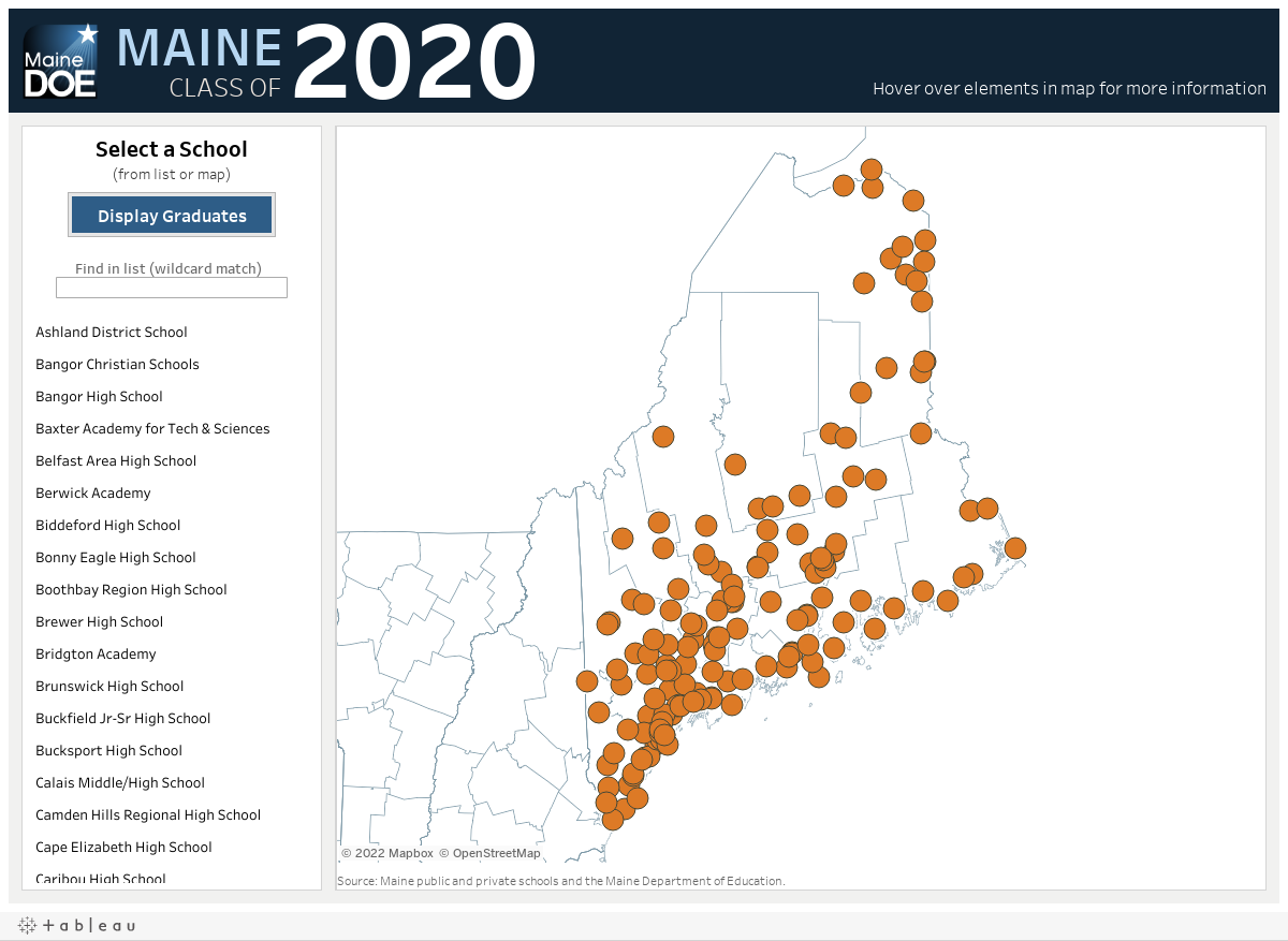 Maine High Schools Class Of 2020 Department Of Education