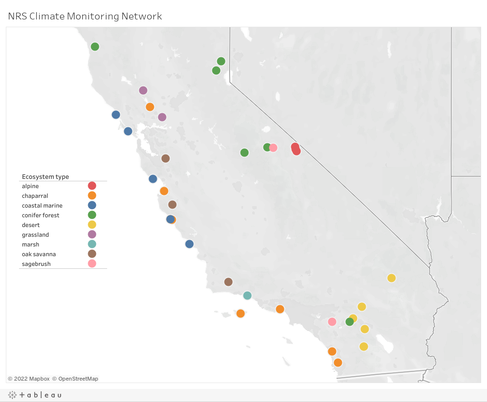 Climate Monitoring Network dashboard