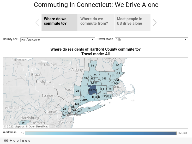 Commuting In Connecticut: We Drive Alone