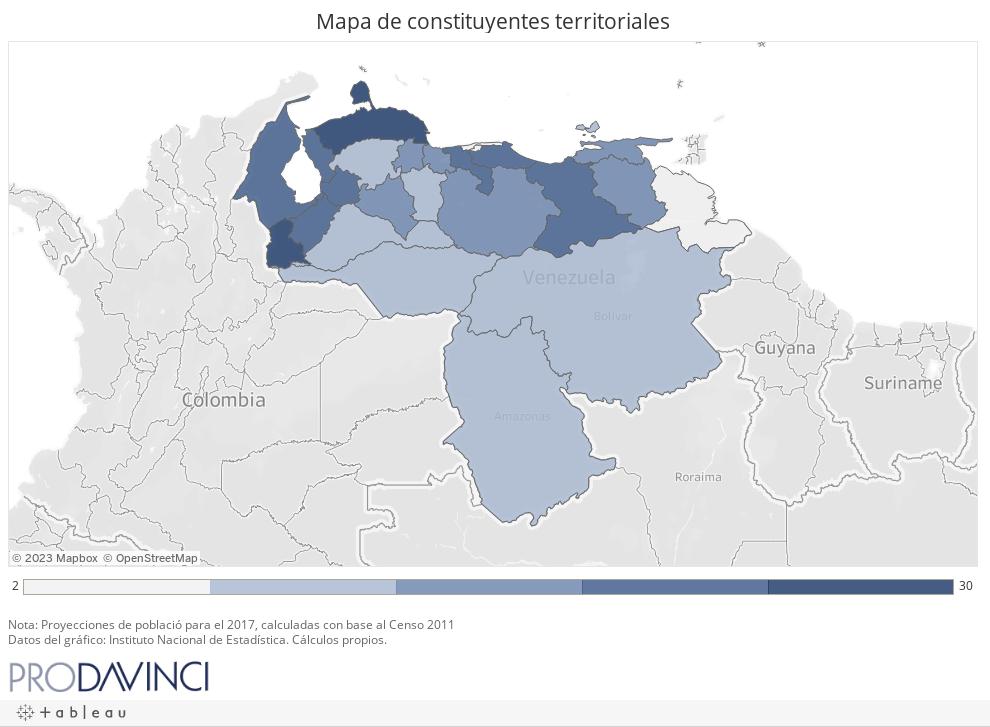 Mapa de constituyentes territoriales
