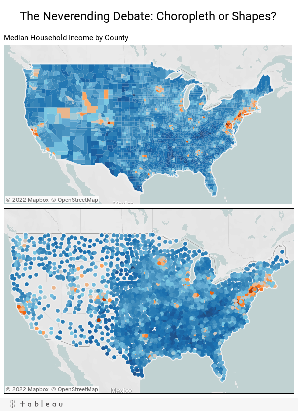 The Neverending Debate: Choropleth or Shapes?
